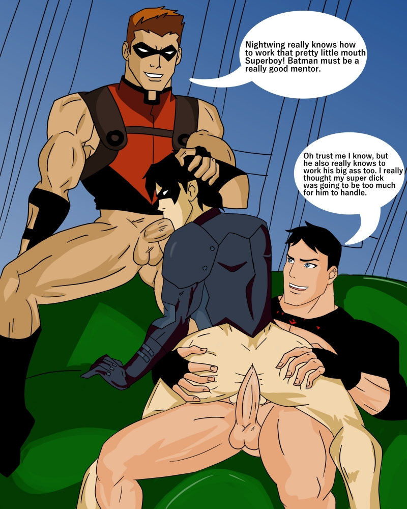 Superboy enjoy gay orgy with horny friends