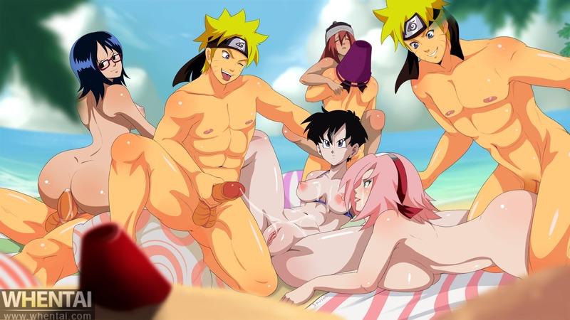 Videl Aoi Kimidori Android 18 1251409 - Dragon_Ball_Z Inusen Naruto Naruto_Uzumaki One_Piece Sakura_Haruno Tashigi Tayuya Videl crossover.jpg
