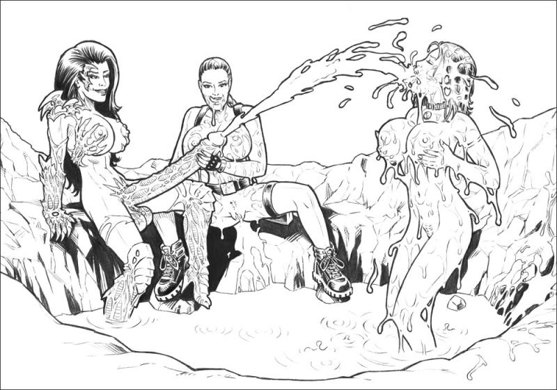 51132 - Aspen_MLT Aspen_Matthews Fathom High-Heeled_Jill Lara_Croft Tomb_Raider Witchblade crossover sara_pezzini.jpg