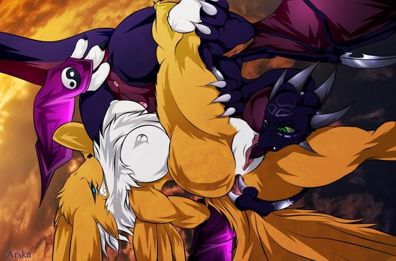 315404 - Arska_the_Man Cynder Digimon Renamon Spyro_The_Dragon.jpg