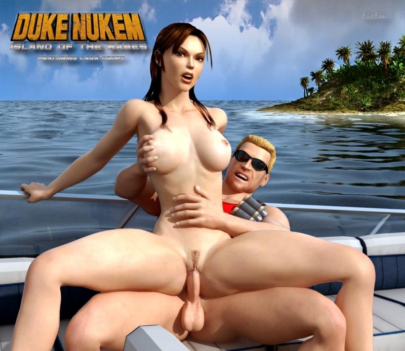 Duke Nukem 520223 - Duke_Nukem Galm Lara_Croft Tomb_Raider crossover.jpg