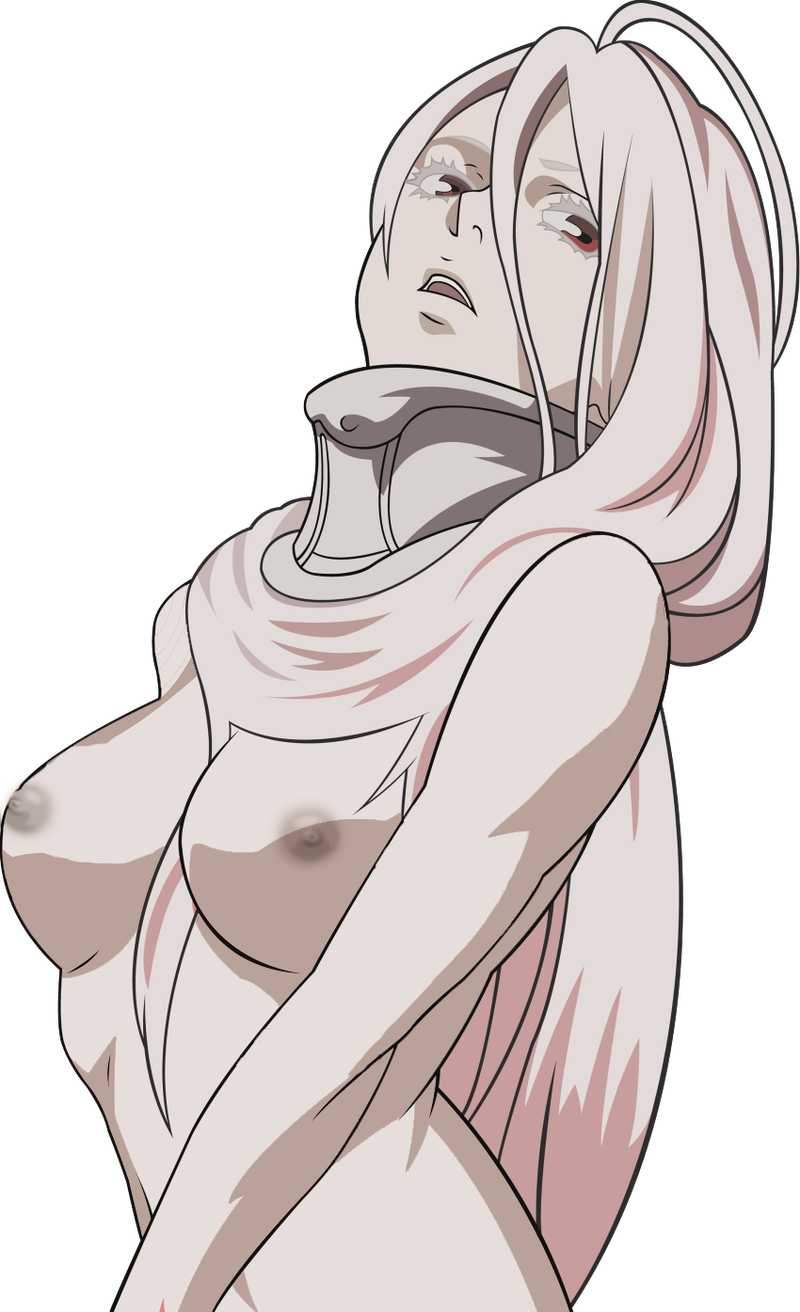Shiro in sexy pose with her cute tits naked