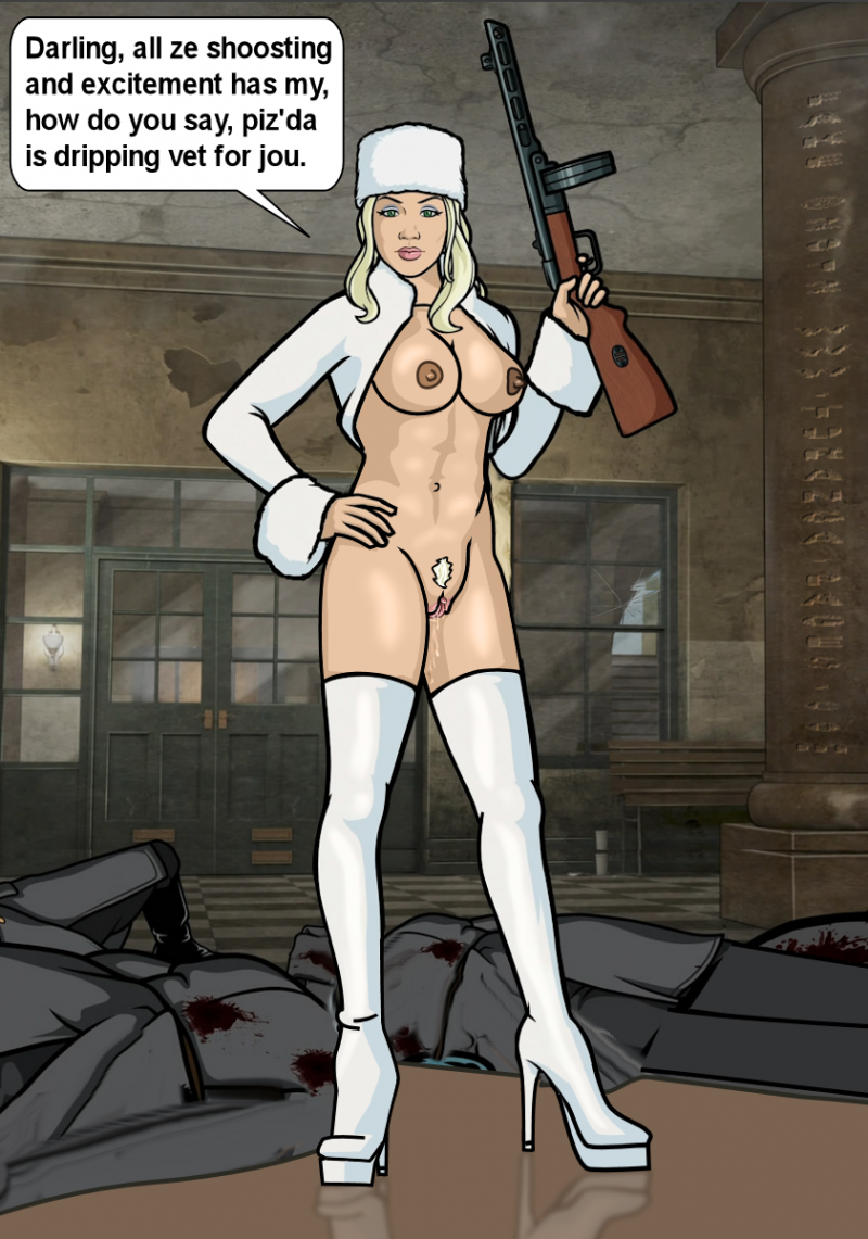 Sterling Malory Archer has eventually meet a indeed bad lady who gets indeed turned on by shooting!