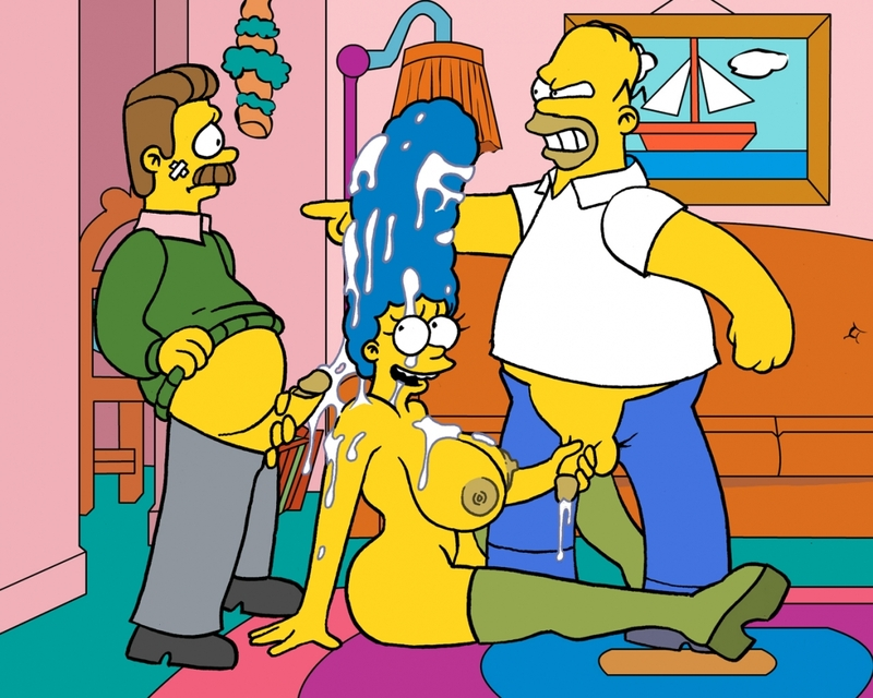 Marge And Homer From Simpsons Making Sex