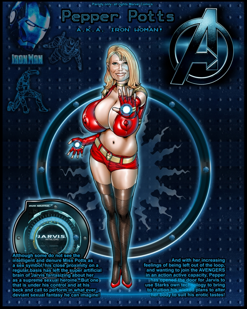 Pepper Potts - Iron Woman... an very naughty sometimes!