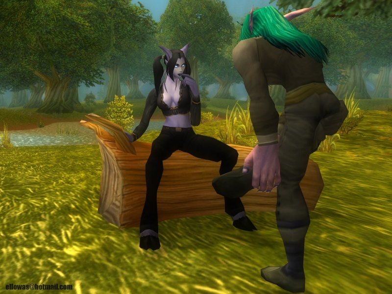 Wood fuck-facial adventure of one horny draenei chick