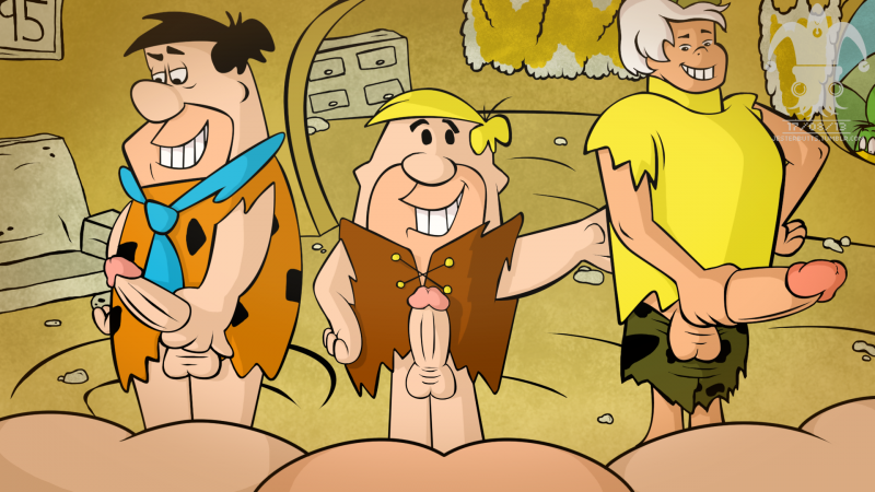 Fred Flintstone and his mates are ready to fuck butts!