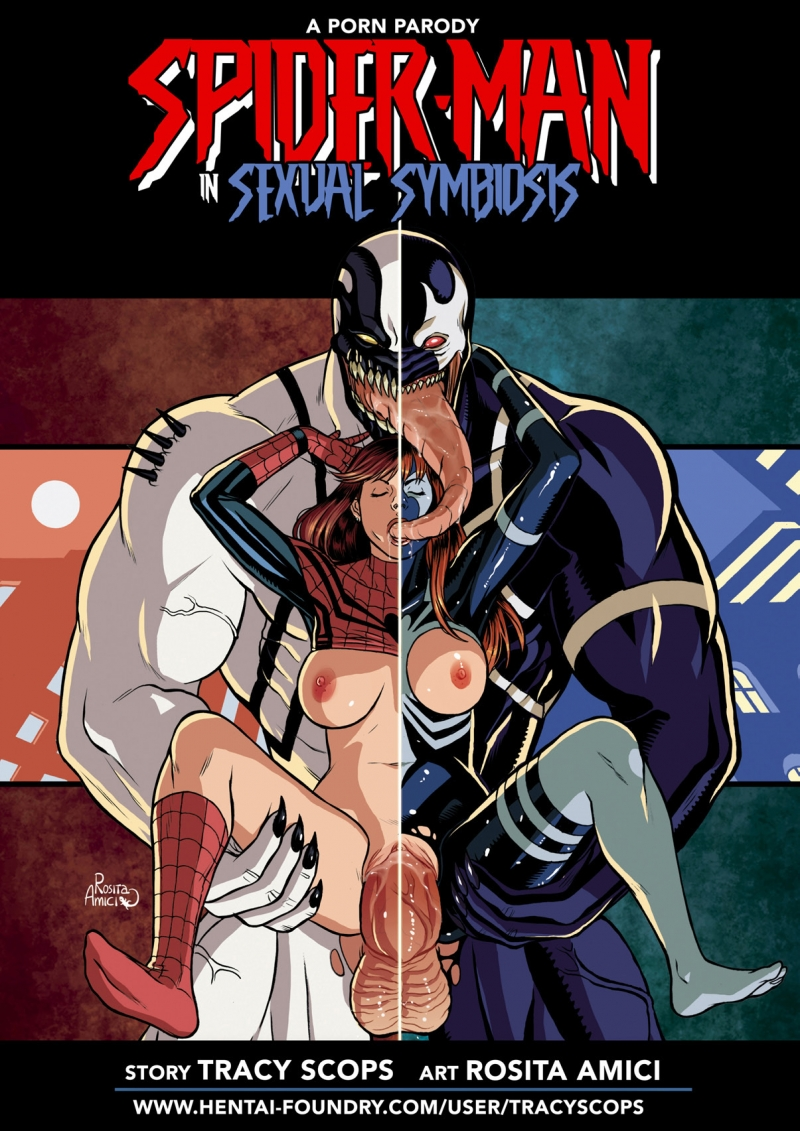 Spider-boy Sexual Symbiosis 1: The story of a symbiote that makes Spidey and his mates even more nasty than usual!
