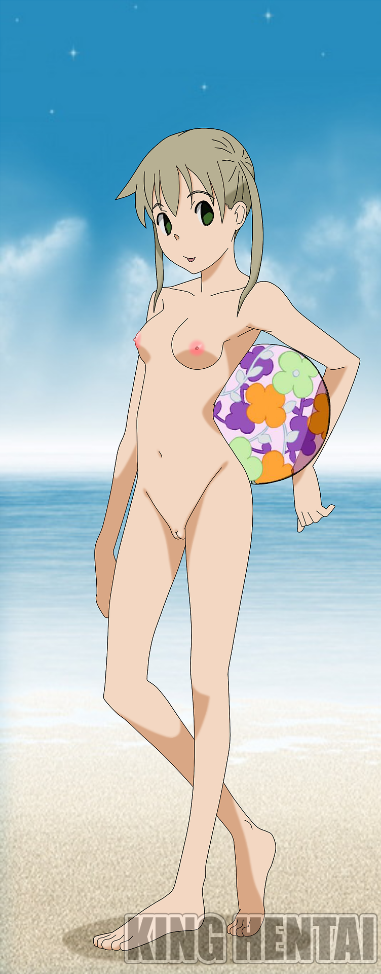 Who wants to play beach volleyball with nude Maka Albarn?