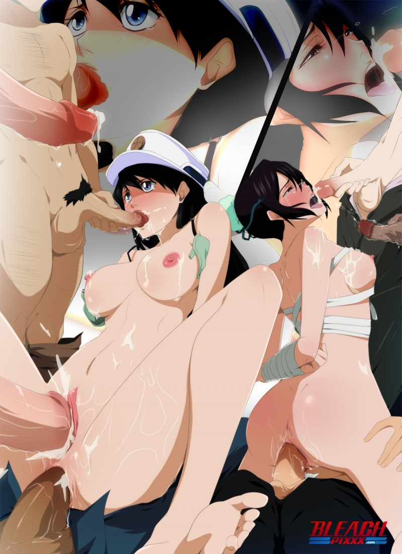 "Tonight these 2 mind-blowing brunettes from ""Bleach"" will get a gigantic rigid pink cigar in each of their crevices!"