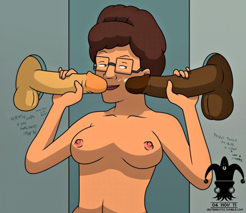Peggy Hill like glory crevice joy