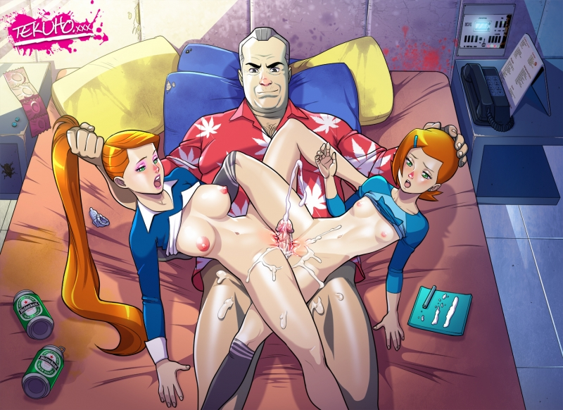 Naughty granddad Max Tennyson is prepped to boink any version of red-haired supah spectacular superslut Gwen