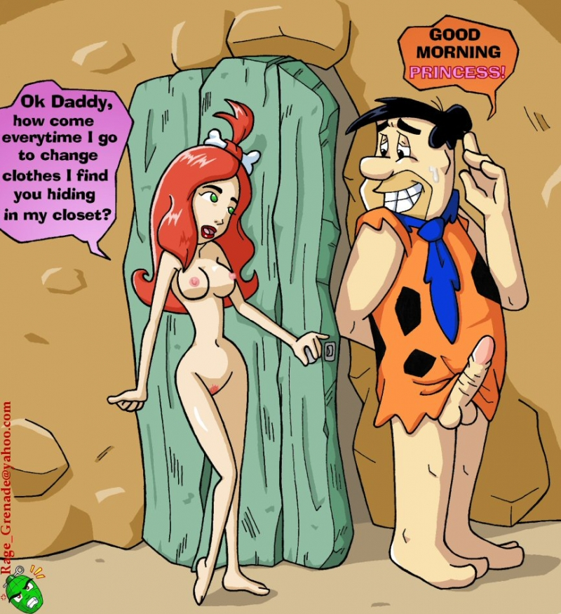 Pebbles Flintstone want fuck Fred Flintstone right now