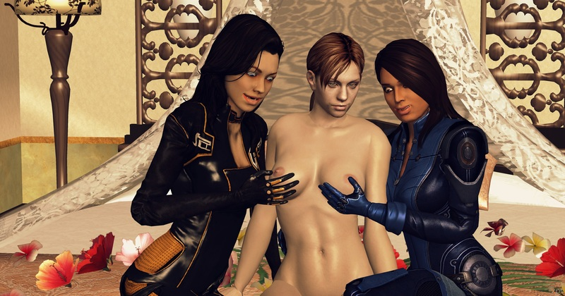 1242215 - Ashley_Williams Jill_Valentine Mass_Effect Mass_Effect_3 Miranda_Lawson Resident_Evil XNALara crossover xps.jpg