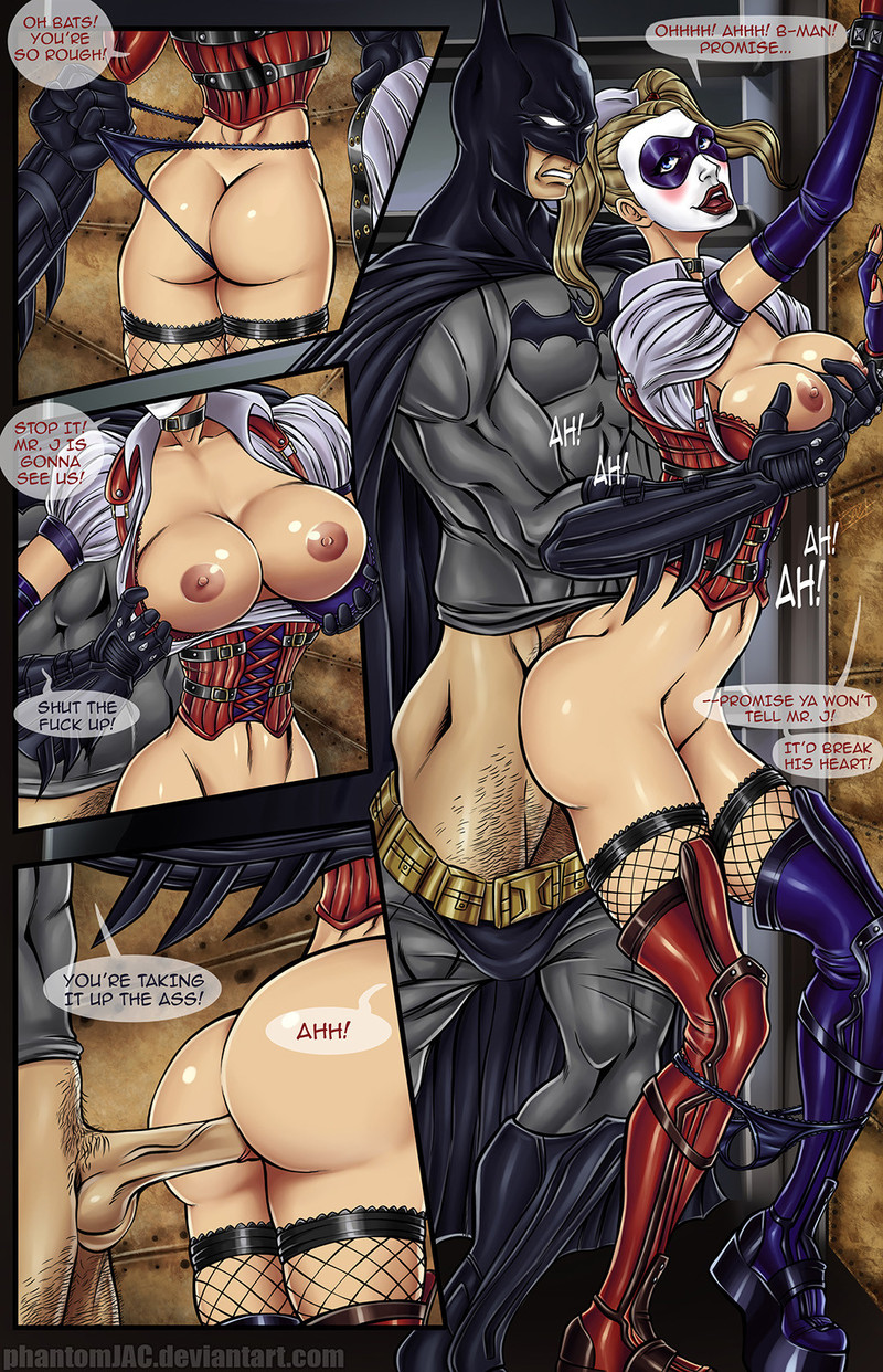 Batman nailed busty Harley Quinn
