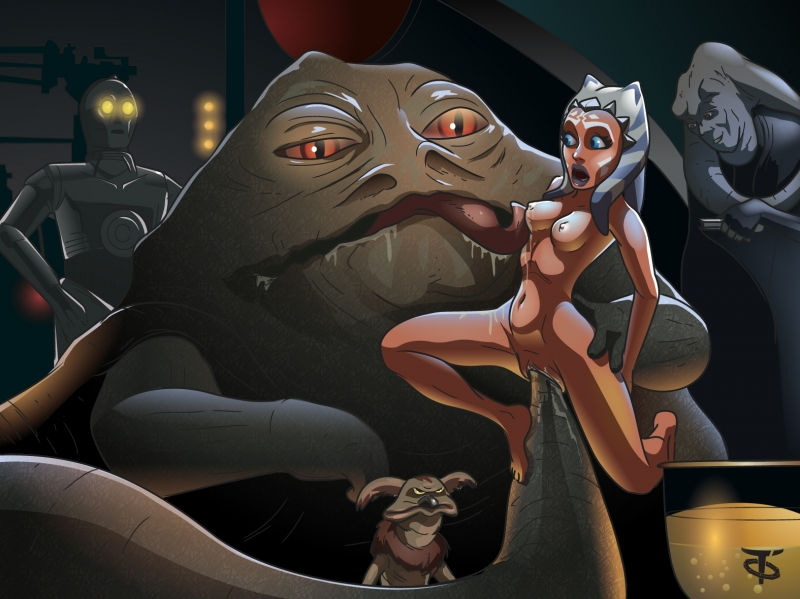 Ahsoka Tano make fun with filthy Jabba Hatt