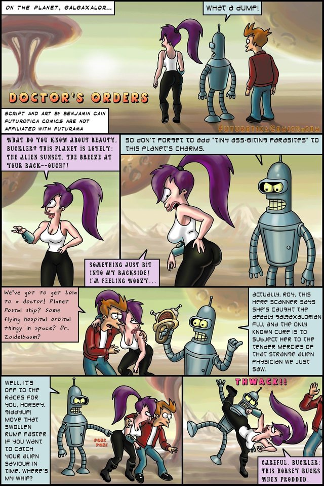 Futurotica Comics (Futurama and Starlet Trek Parodies)