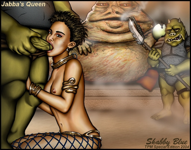 Looks like Padme will have to serve all gamorian guards before she will be boinked by Jabba!
