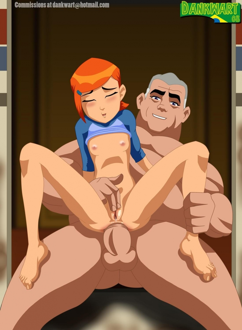 grandpa Max Tennyson fuck Gwen in tight asshole