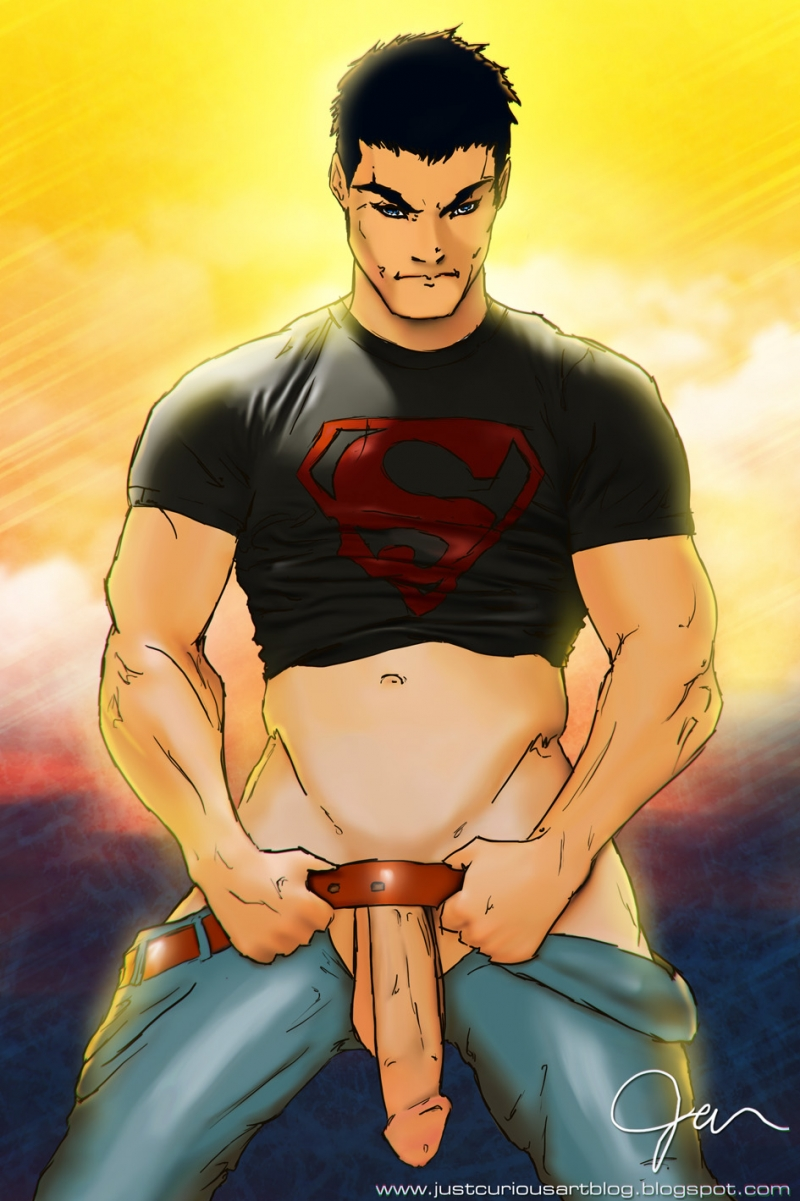 Superboy have flawless huge superdick