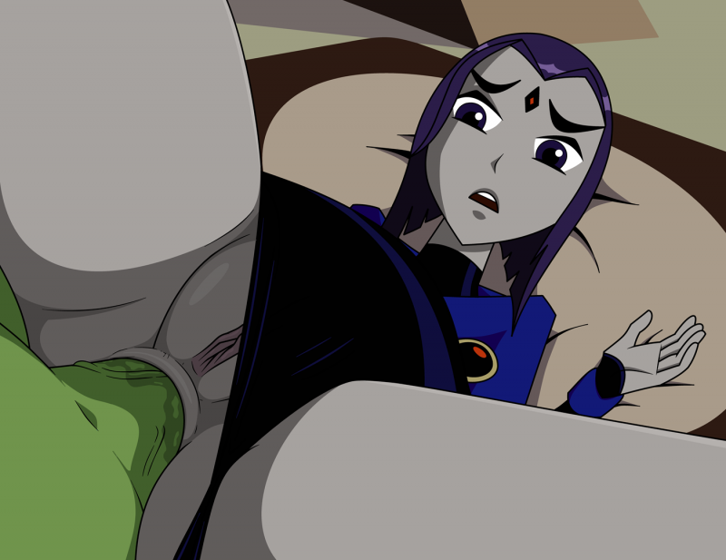 Beast boy got himelf a nice pussy to fuck in the ass