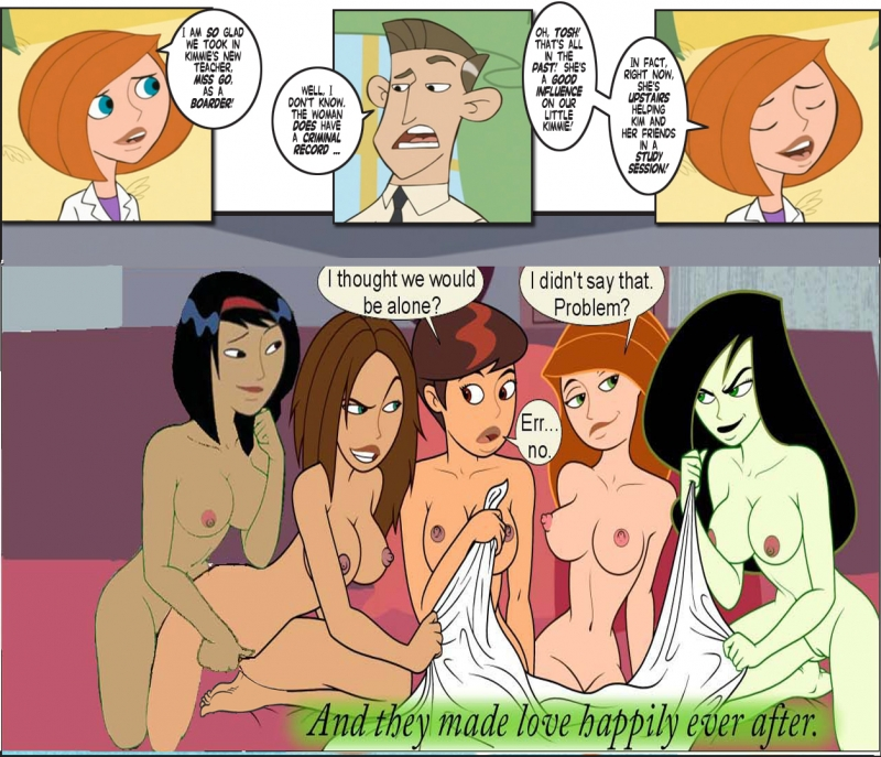 Shego Kim Possible and Bonnie Rockwaller with her Girlfriend attempt chick/chick joy