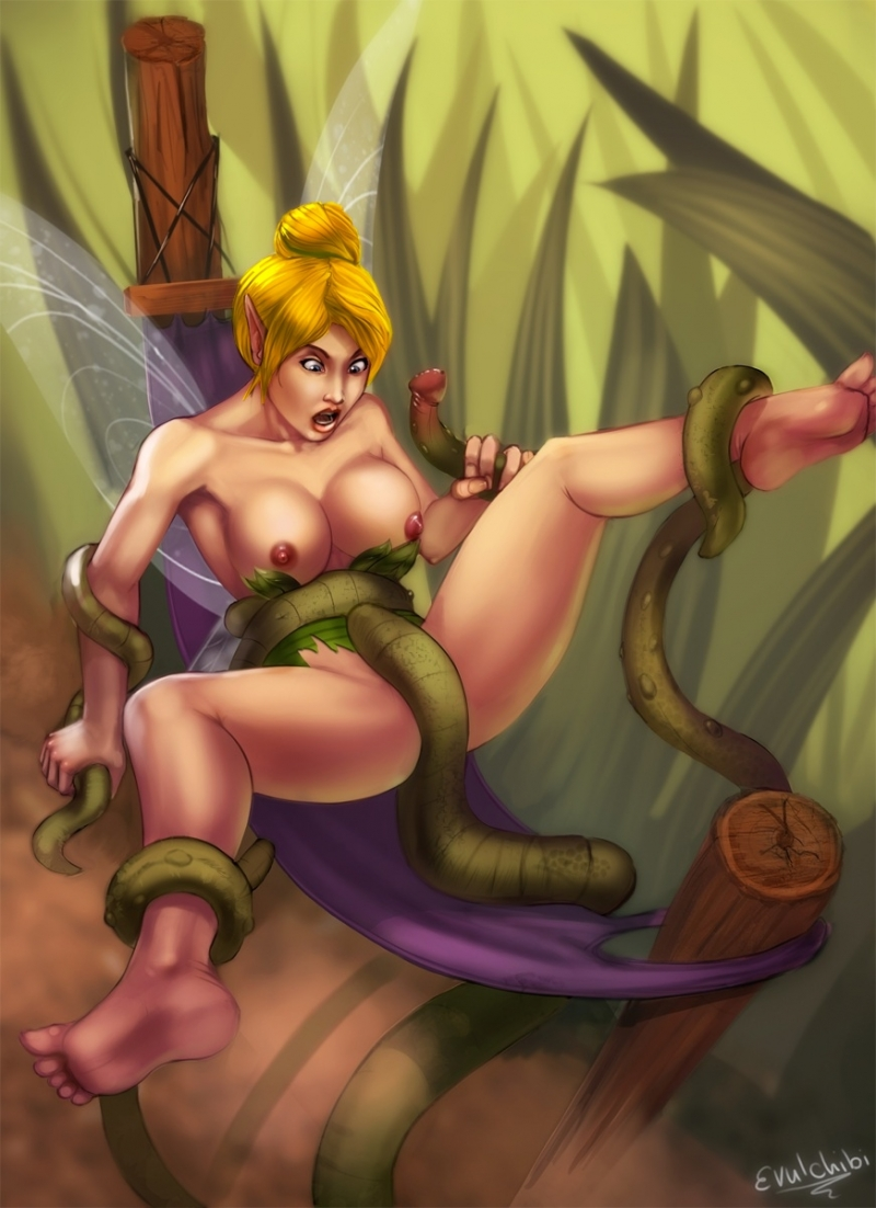Insatiable tentacles want rape Tinker Bell
