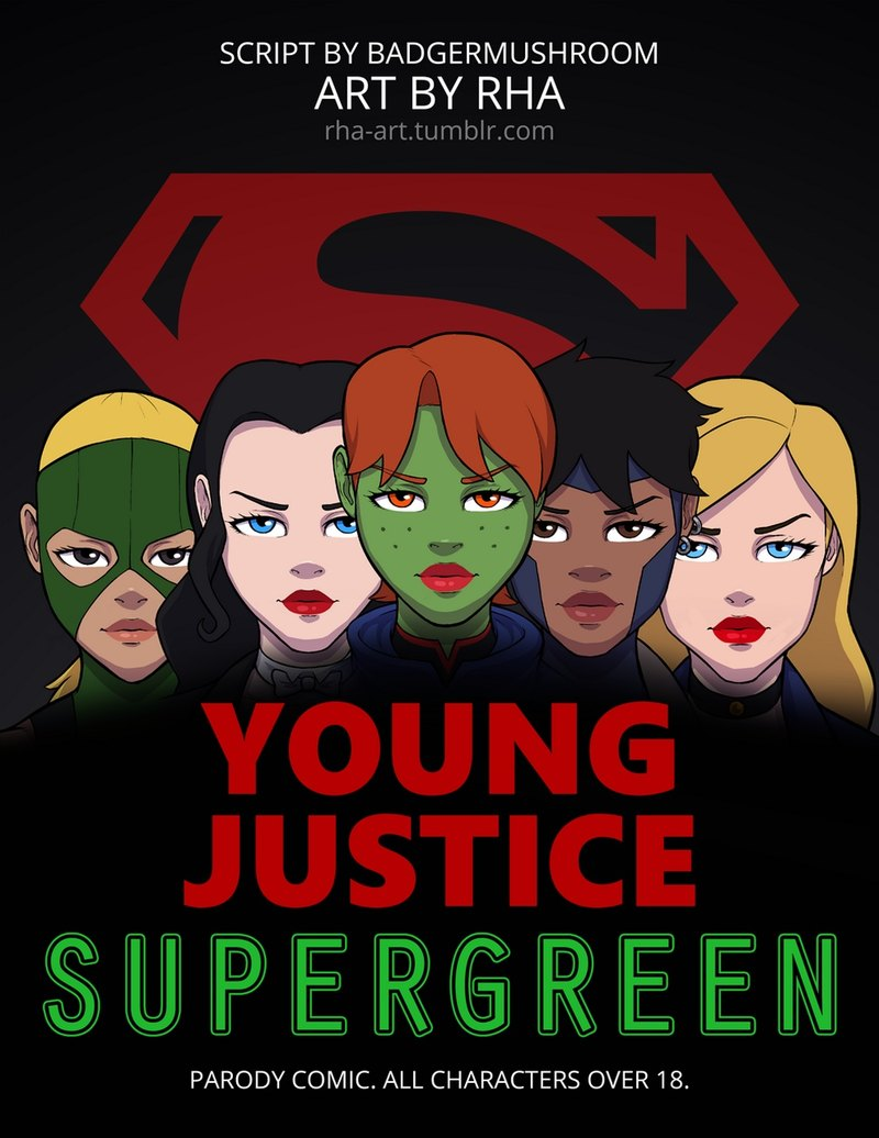 Young Justice - Supergreen: All these super heroes are so horny after fighting practice