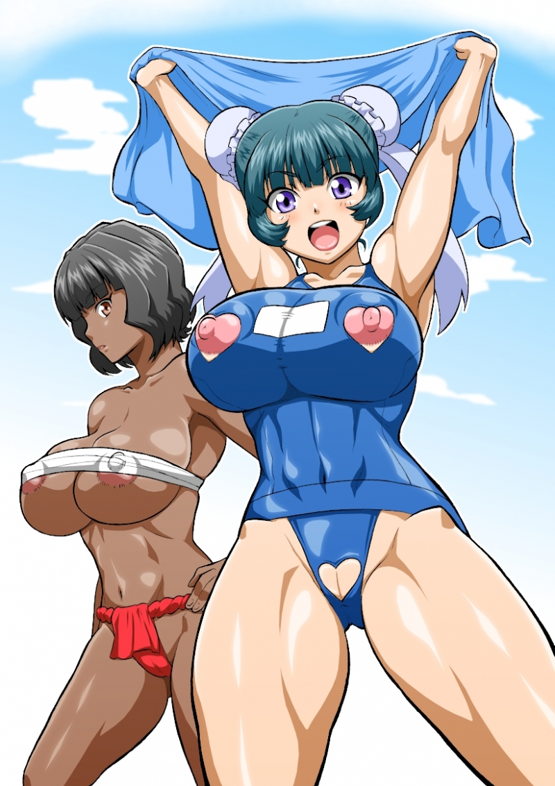 These anime babes will make any day at the beach into a hot one!