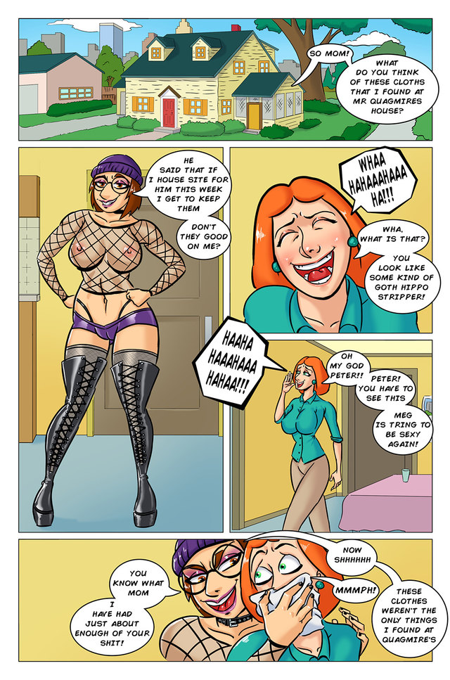 [Fetishhand] Family Fellow Parody: Meg or Lois - who is truly nasty?