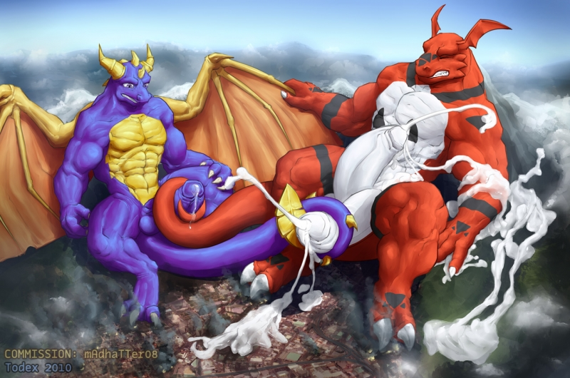 438840 - Digimon Guilmon Spyro_The_Dragon Todex crossover.jpg