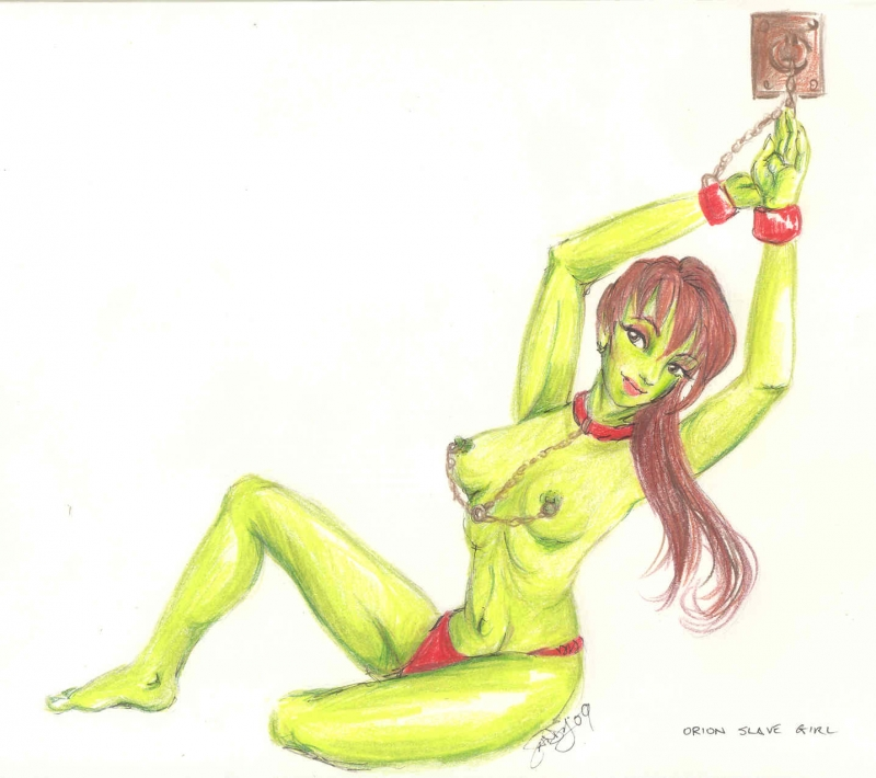 Green orion slave girl porn