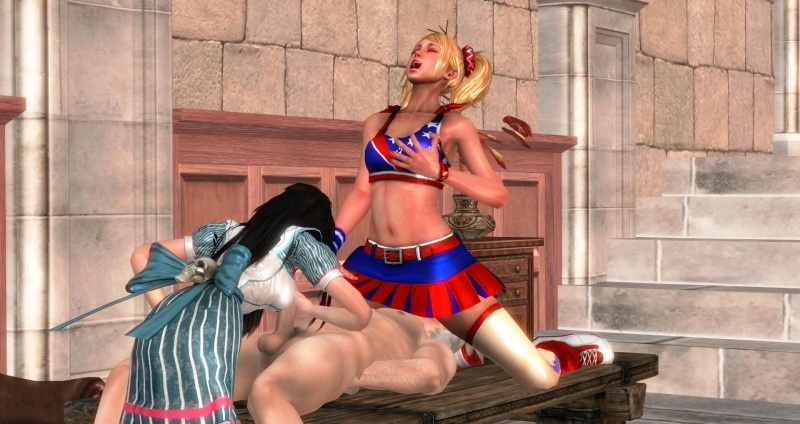 915305 - Alice_Liddell Alice_Madness_Returns American_McGee's_Alice Dante Devil_May_Cry Dudehentai Juliet_Starling Lollipop_Chainsaw XNALara crossover.jpg