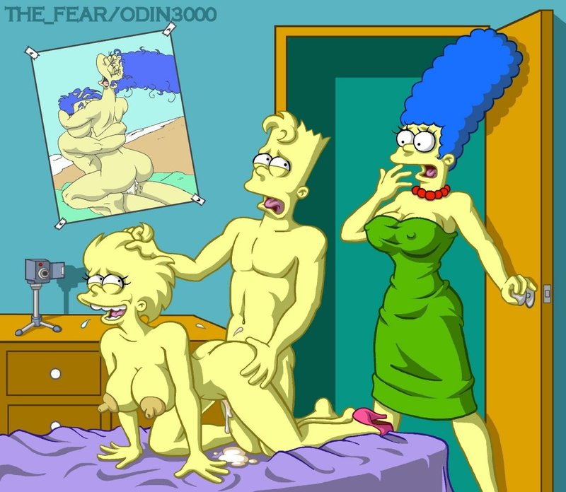 Marge Simpson Lisa Simpson Bart Simpson Ms. Krabappel  755749 - Bart_Simpson Lisa_Simpson Marge_Simpson The_Fear The_Simpsons odin3000.jpg