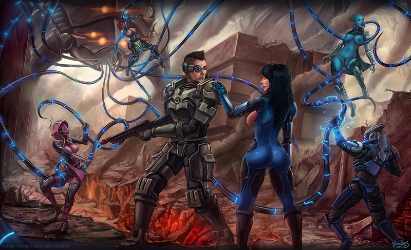 1365802 - Ashley_Williams Commander_Shepard FemShep Garrus_Vakarian James_Vega Liara_T'Soni Mass_Effect Mass_Effect_3 Reaper Tali'Zorah_nar_Rayya Turian vempire.jpg