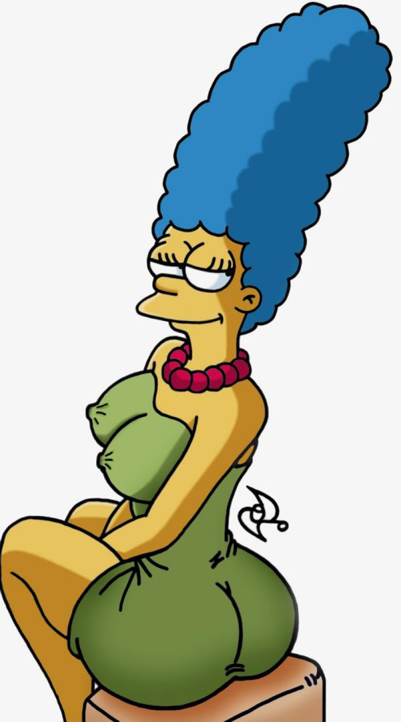 marge simpson nude ass