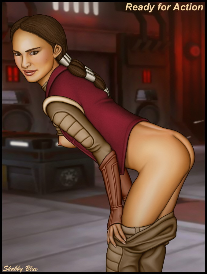 Padme's super-sexy backside is bare and prepared for act!