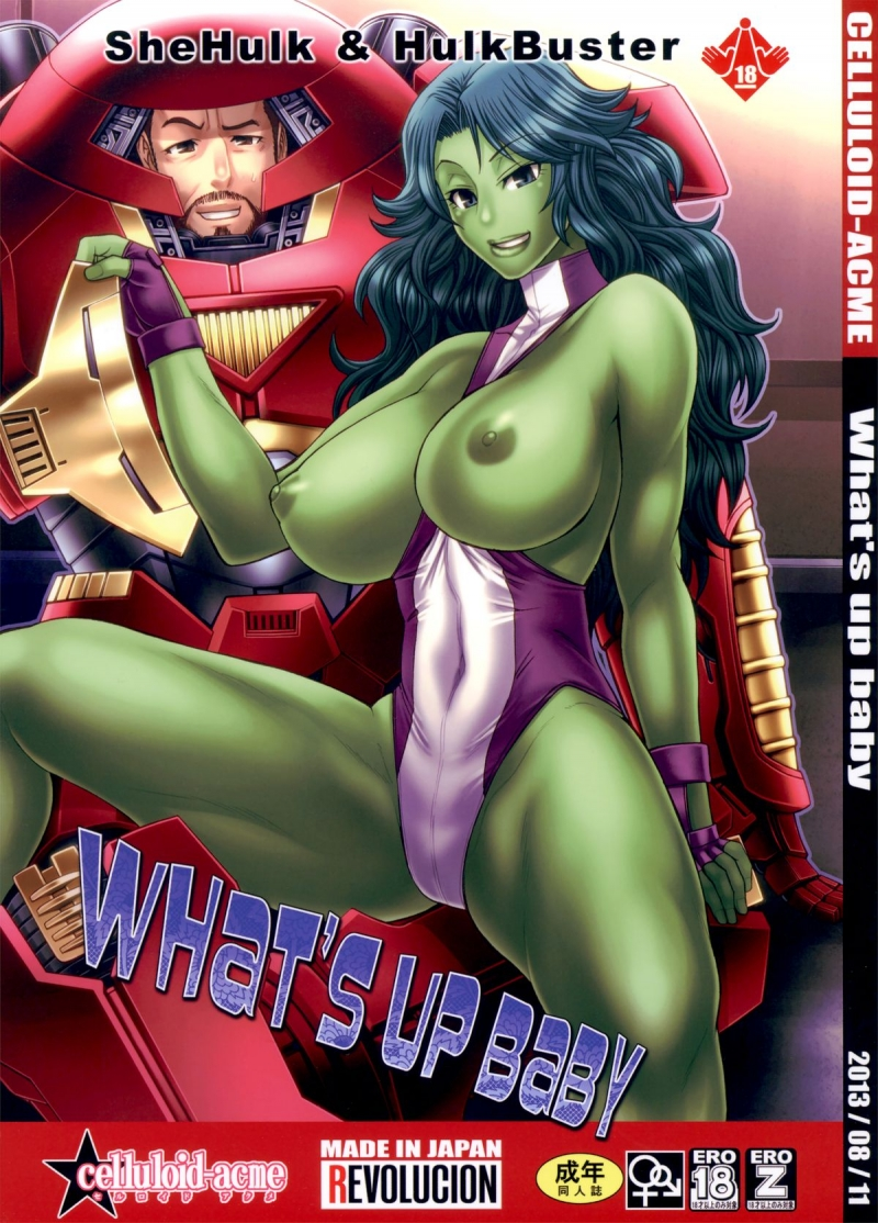 What's Up Baby (C84): She-Hulk and Wonder Chick - these 2 honeys are as mighty as they are super-naughty!