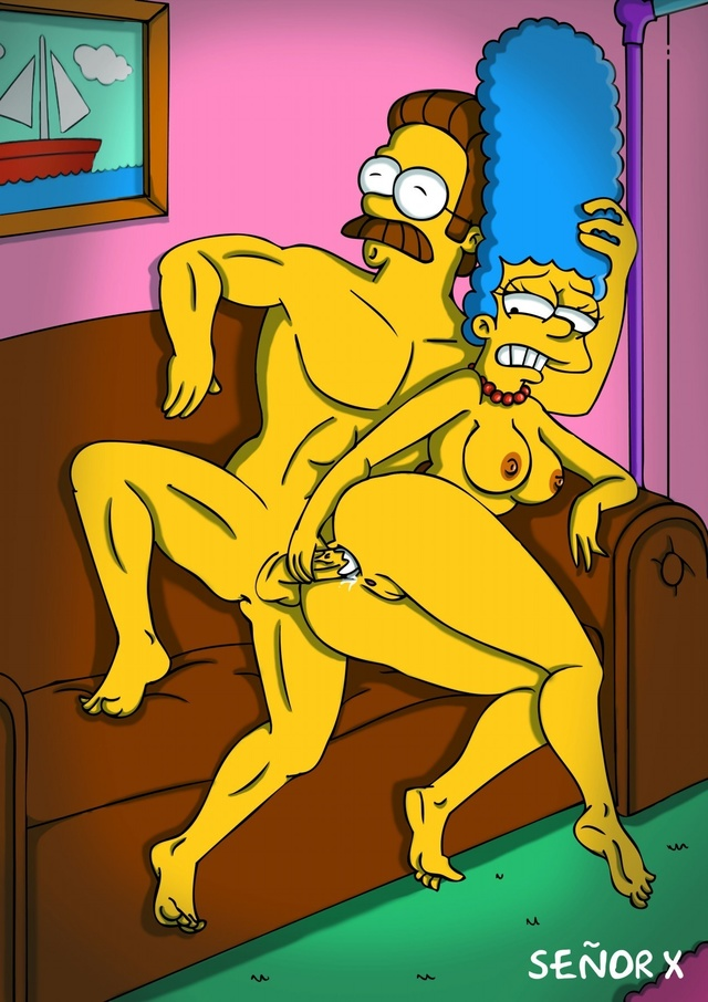 Ned Flanders Marge Simpson Amy IMG_9389.JPG