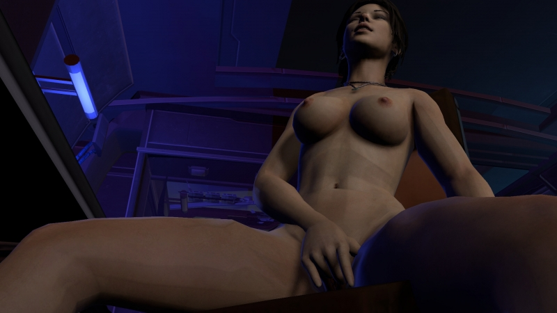 Lara Croft Nude On Train