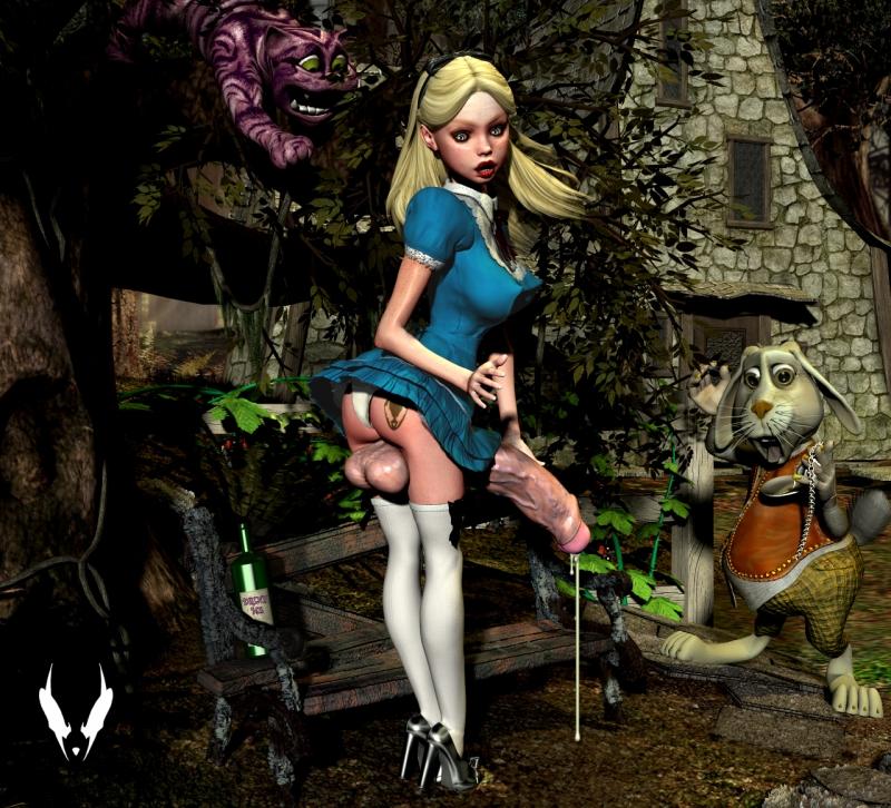 729686 - Alice Alice_in_Wonderland Cheshire_Cat Grendel White_Rabbit.jpg