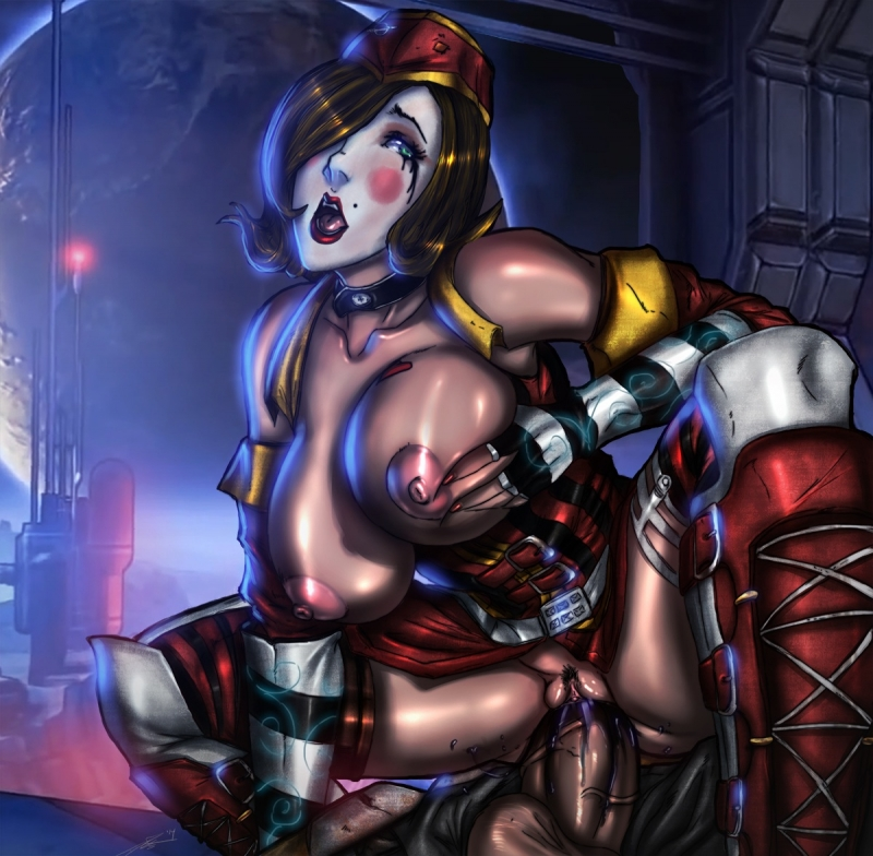 Huge-boobed Moxxi rail on ample stiffy