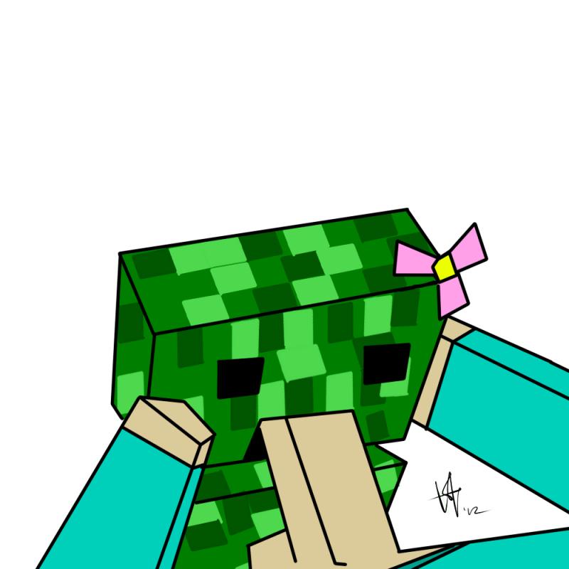 876744 - Creeper Ko Minecraft Steve.png