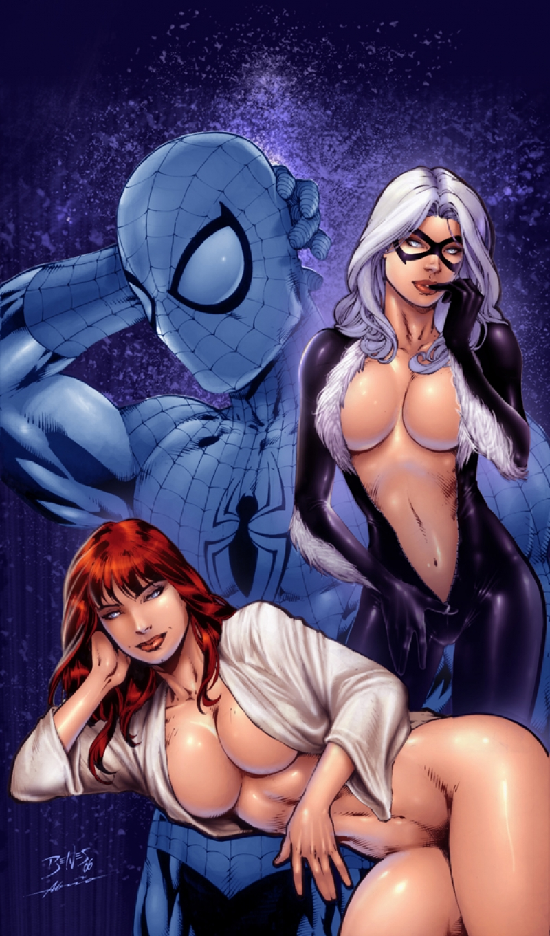 Spiderman And Black Cat Hentai