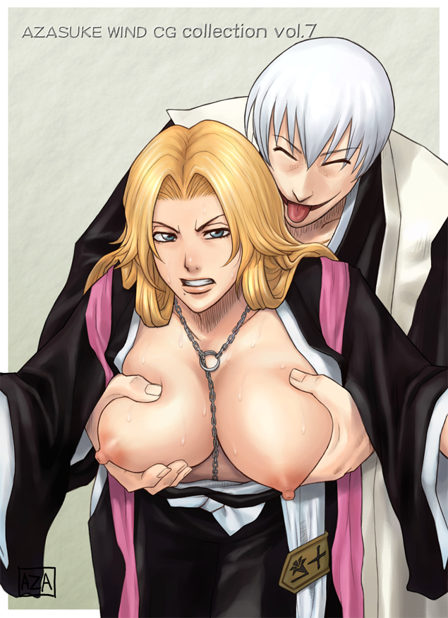 Rangiku Matsumoto hates it when dudes want to have fun with her massive mammories highly highly first