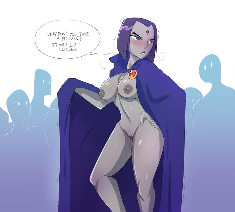 Raven naked comics nude natural