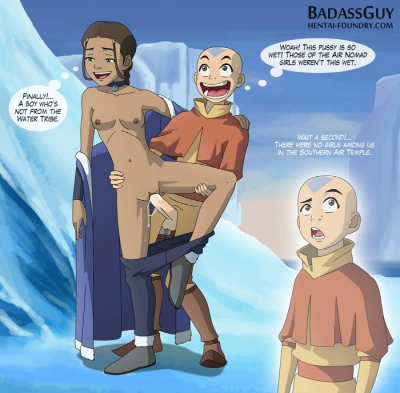Avatar Aang penetrates sexy Katara in wood-squashing cootchie from thier highly highly first encounter!