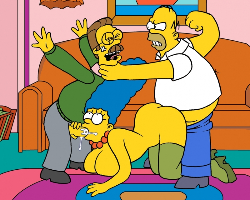 Homer Simpson Ned Flanders Marge Simpson Nikki Wong Amy normal_Pic06~1.jpg