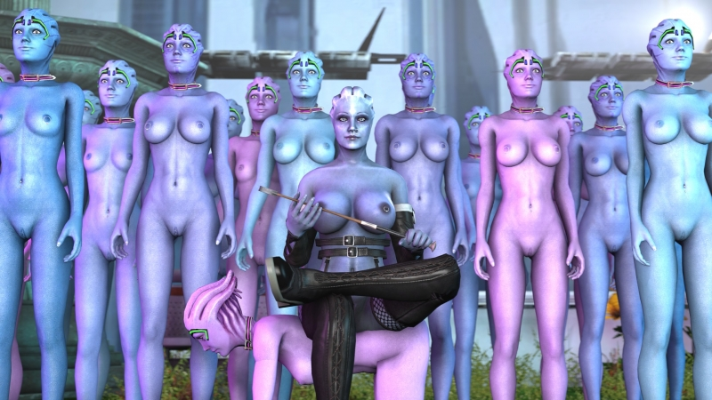 Liara T'soni and her army of naked asari dolls!