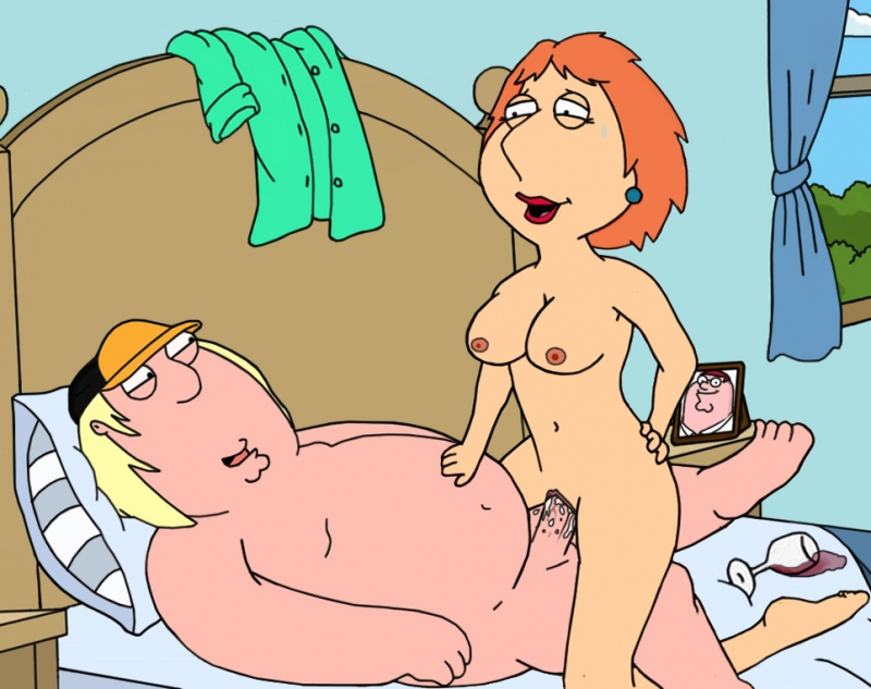 Lois Griffin rail on Chris Griffin man-meat